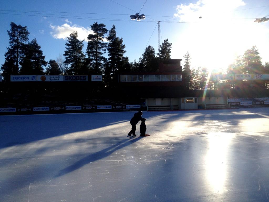 backavallen med pingviner och skridskor, sportlov 2014 010